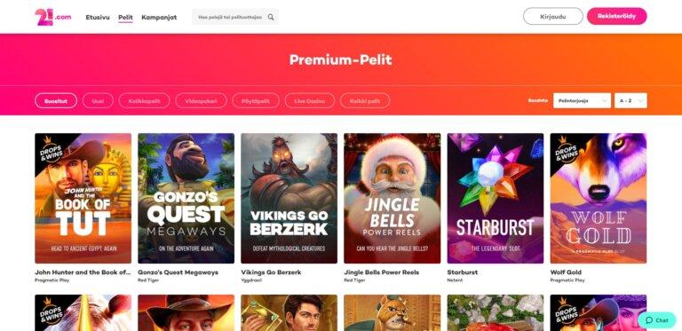 21.com Casino Kuvankaappaus 2