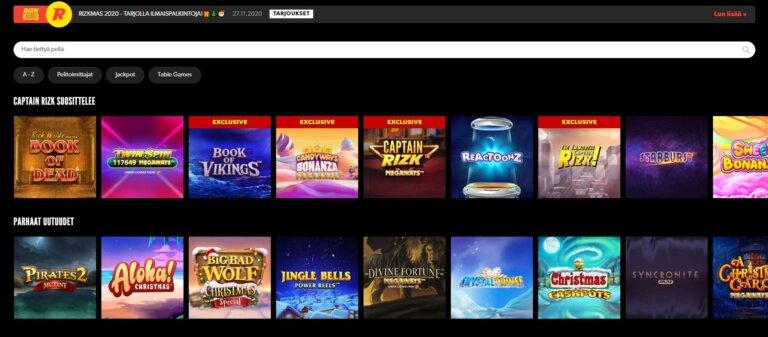 Rizk Casino Kuvankaappaus 3