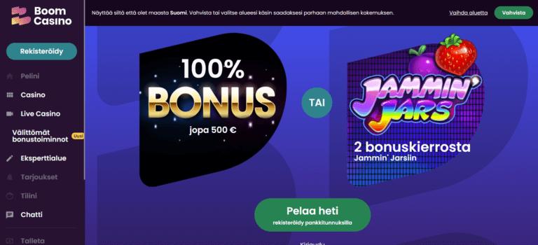 Boom Casino Kuvankaappaus 1