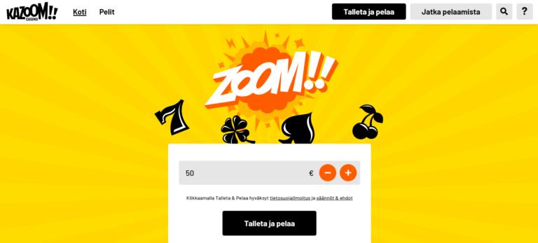 Kazoom Casino Kuvankaappaus 1