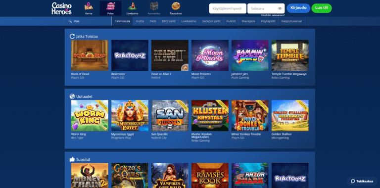 Casino Heroes Kuvankaappaus 3