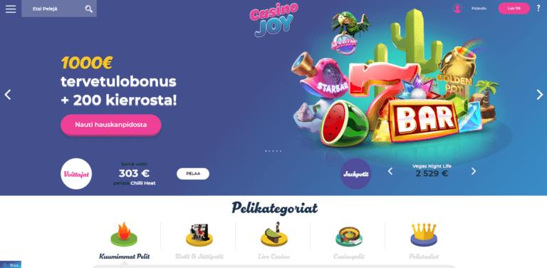 Casino Joy Kuvankaappaus 1
