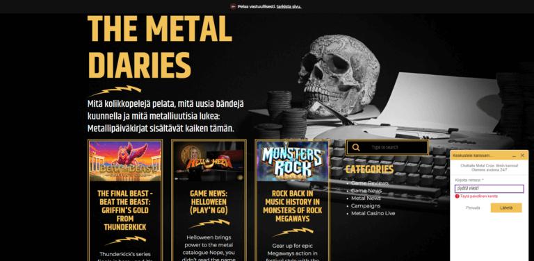 Metal Casino Kuvankaappaus 2