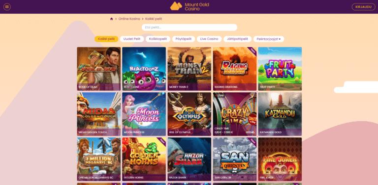 Mount Gold Casino Kuvankaappaus 3