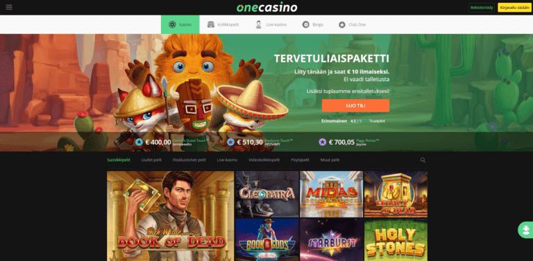 One Casino Kuvankaappaus 1