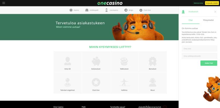 One Casino Kuvankaappaus 2
