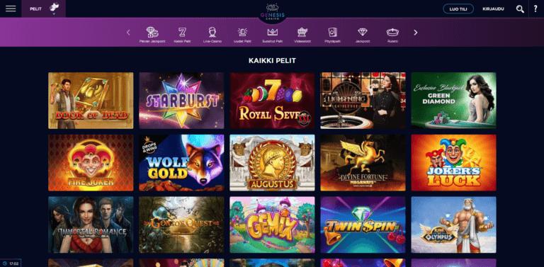 Genesis Casino Kuvankaappaus 3