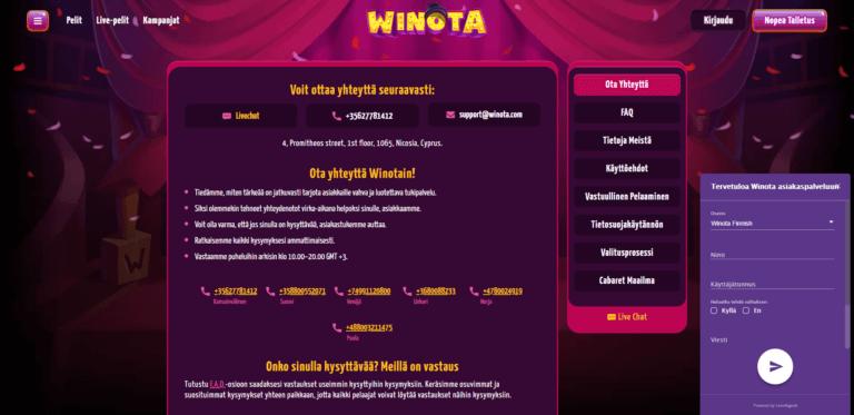 Winota Casino Kuvankaappaus 2