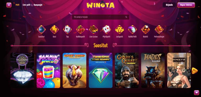 Winota Casino Kuvankaappaus 3