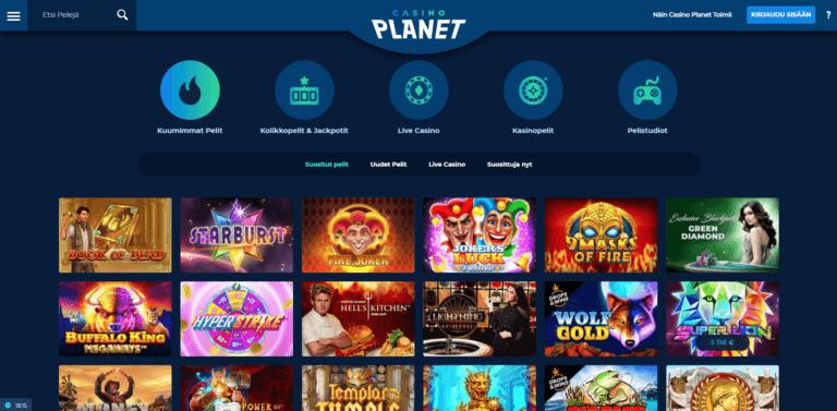 Casino Planet Kuvankaappaus 3