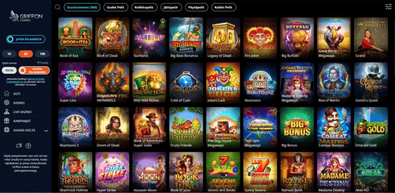 Griffon Casino Kuvankaappaus 3