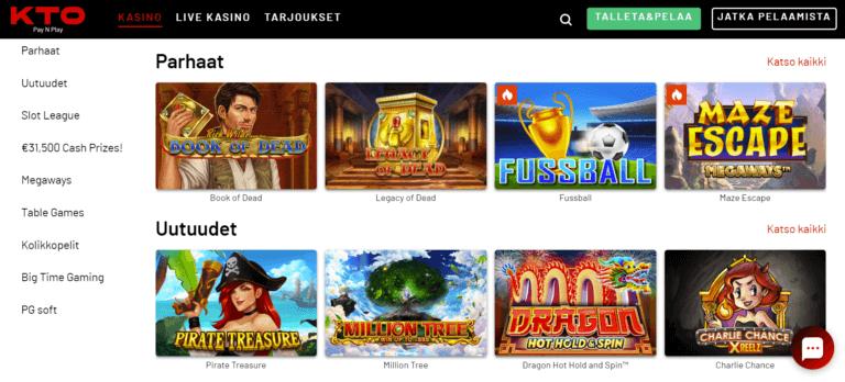 KTO Casino Kuvankaappaus 3