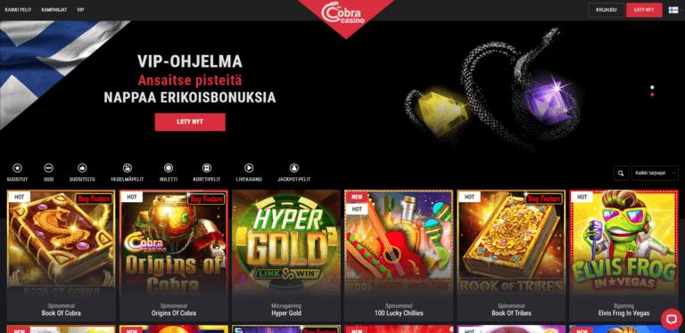 Cobra Casino Kuvankaappaus 1