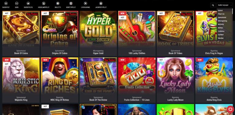 Cobra Casino Kuvankaappaus 3