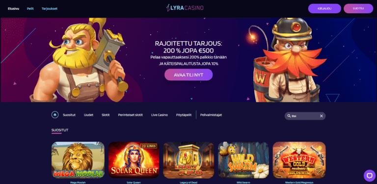 Lyra Casino Kuvankaappaus 1